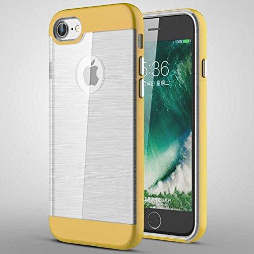 """4.7"""" iPhone 7 Coque, AOFad Case Concis Protection des lourds Mince or Plastique Hybride Accessoires Série Pour Femme Homme L200"""