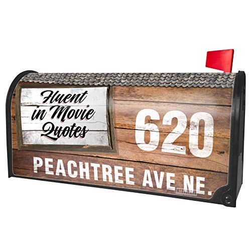 NEONBLOND Custom Mailbox Cover Vintage Lettering Fluent in