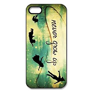 Customized iPhone Case Peter Pan Never Grow Up Printed Durable Hard iPhone 5 5S Case Cover hjbrhga1544