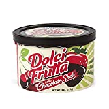 Saco Dolci Frutta Hard Chocolate Shell for Fruit, Chocolate, 8-Ounce Canisters (Pack of 12)