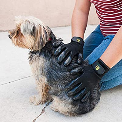 Pet Magasin Pet Grooming Gloves [One Complete Pair for Both Hands] – Shedding & Bathing Mitt for Dogs, Cats, Horses & Other Animals with Both Long and Short Fur
