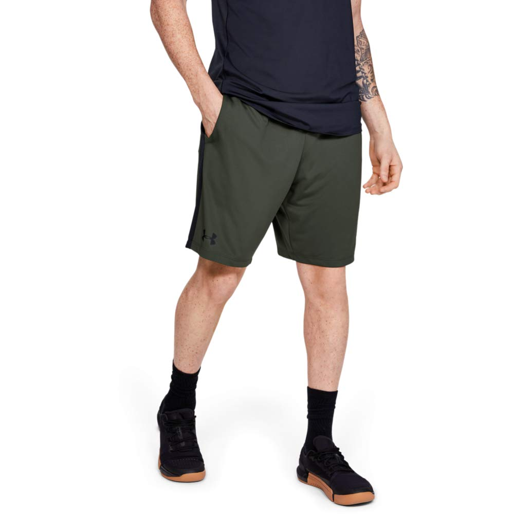 Under Armour Men's MK1 Shorts, Baroque Green (310)/Black, 3X-Large by Under Armour