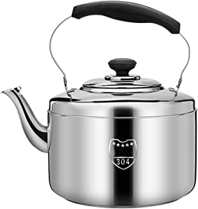 Stainless Steel Kettle/Kitchen Aid Teapot|tea Pots For Stove Top|tea Kettle|whistling Tea Kettle| 304 Stainless Steel | Large-capacity Multi-size | Suitable For All Types Of Stoves (Size : 7L)