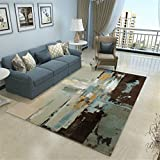 MIRUIKE Modern Abstract Polypropylene Area Rugs for Living Room Hypoallergenic Non-Slip 6'x 9',7'x 10'
