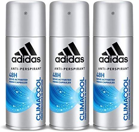 Adidas Climacool Deodorant Body Spray for Men, 3 x 150 ml: Buy ...