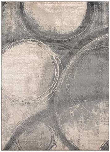 Luxe Weavers Howell Collection Abstract 8×10 Gray Area Rug