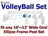 Intex VolleyBall Set for 24'' x 12'' Oval Ellipse Frame Pool Setup Only (Other Type Metal Frame Pool May Required additional Parts)