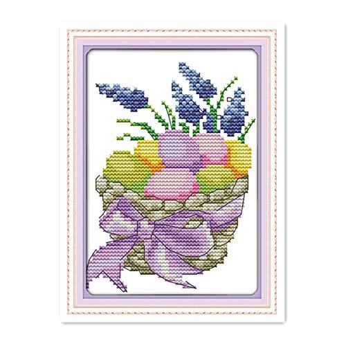 Zamtac Halloween Egg Small Size Handmade Needlework Cross Stitch kit Student Manual Interest Class Decorative Accessory Painting - (Cross Stitch Fabric CT Number: 14CT -