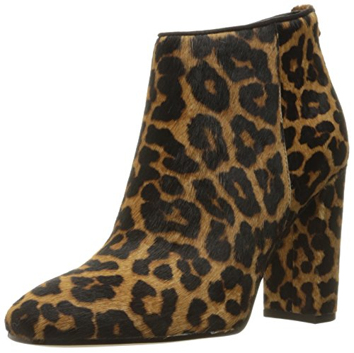 Leopard Black Boots Ankle 8 Cambell UK Brown Black Women's Edelman Sam xAqUBvTz