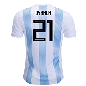 2018-19 Argentina Home Football Soccer T-Shirt Camiseta (Paulo Dybala 21) - Kids: Amazon.es: Deportes y aire libre