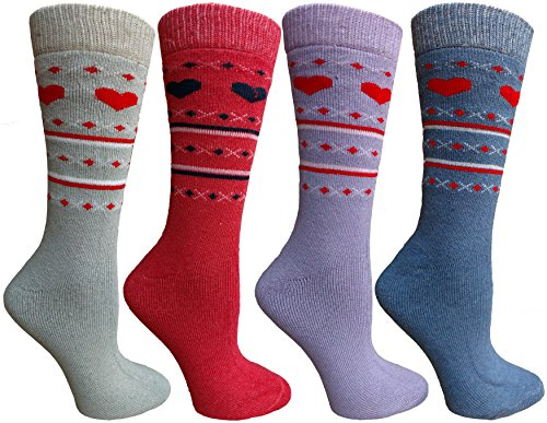 - Womens Merino Wool Socks, Backpacking, Hiking, Lightweight Anti-Microbial 50% Premium Wool (4 Pairs Assorted)