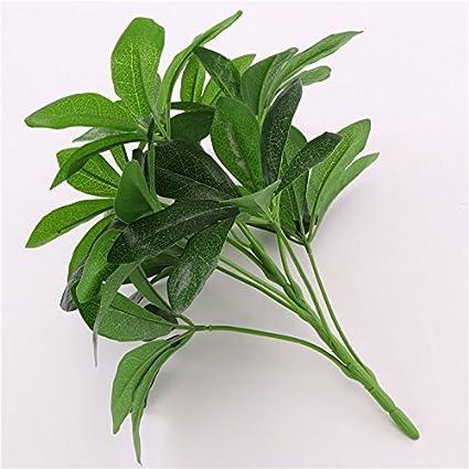 Gsylol 9 Teste Di Schefflera Artificiale Octophylla Foglie Bonsai Da