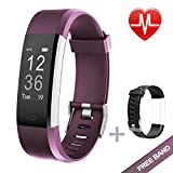 Fitness Tracker - Lintelek Heart Rate Monitor Activity Tracker with Connected GPS Tracker - Step Counter - Sleep Monitor - IP67 Waterproof Bluetooth Pedometer for Android and iOS Smartphone