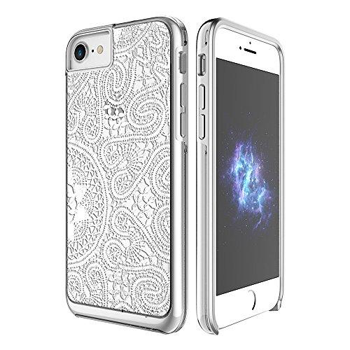 Prodigee [Show] Lace white Blanco for iPhone 7 (2016) 4.7 Cell phone case Clear Claro transparente caso caja Carcasa Funda cubierta envoltura cajas del teléfono 2-piece fashionable design