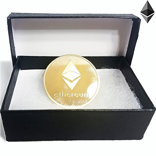 Price comparison product image Future BuyZ Gold Plated Ethereum ETH Coin Token Miner Cryptocurrency Commemorative Collection Limited Edition With Case and FREE Gift Box (1pc Ethereum w / Gift Box)