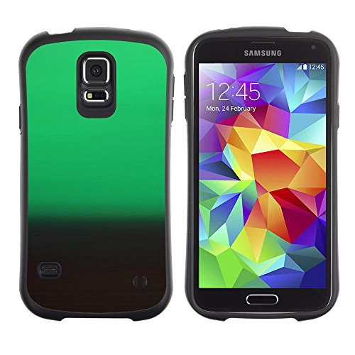[Planetar] iFace Series Soft Tpu Skin Bumper Case Cover For Samsung Galaxy S5 [Motion Green Dark Gradation Blur Parallax] - Gradation Series