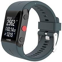 NewKelly Crystal Bracelet Wrist Watch Strap For POLAR V800 Watch Loop Watch Band Link For POLAR V800 Watch Replacement Band for POLAR V800 Watch (Army Green)