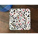 Mah Jong Tiles Mahjong Silicone Drink Beverage Coaster 4 Pack
