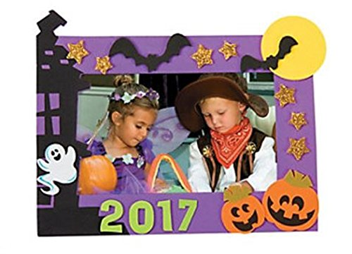 Halloween Picture Frame Craft Kits - 12 Pack (5x7 (Halloween Photo Frames Craft)