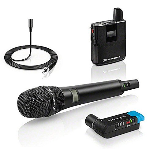 Sennheiser AVX Digital Wireless Microphone System - ME2 Lavalier and AVX42 Handheld Transmitter with MD42 Capsule Combo Set