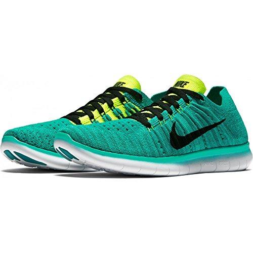 Nike Free Rn Flyknit (Gs), Zapatillas de Running para Niños Verde (Verde (clear jade/black-volt-rio teal))