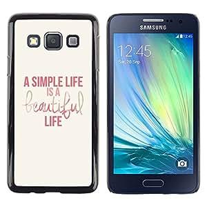 Caucho caso de Shell duro de la cubierta de accesorios de protección BY RAYDREAMMM - Samsung Galaxy A3 SM-A300 - Pink Purple Yellow Red