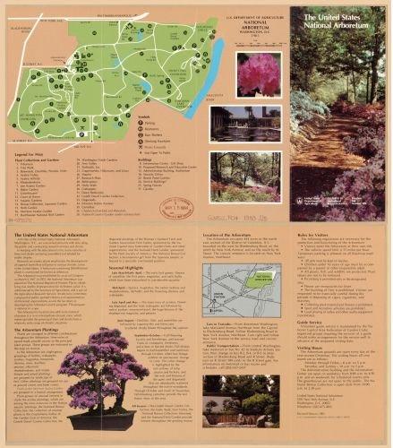 1983 Map U.S. Department of Agriculture, National Arboretum, Washington, D.C. : 1983 - Size: 22x24 - Arboretum Stores At