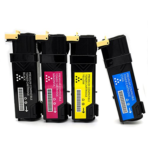 Compatible Phaser (Compatible Xerox Phaser Toner Cartridge 6500 6500 6500DN 6500N 6505 Printers High Yield Set of 4 Toner Cartridges Includes: 1 Black, 1 Cyan, 1 Magenta, and 1 Yellow)