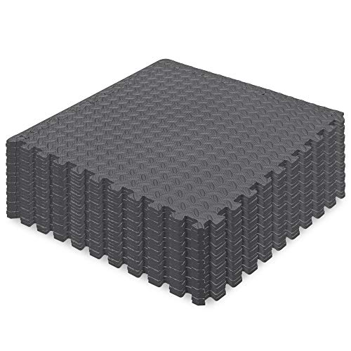 Best Choice Products 24-Piece Puzzle Exercise Mat EVA Foam Interlocking Tiles, Gray