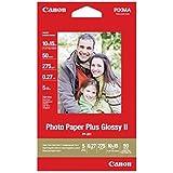 Canon PP-201 Pack de 50 feuilles de papier photo ultra brillant Photo Paper Plus Glossy II 260g A6 10 x 15cm