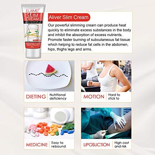Slimming Cream,Cellulite Removal Cream Fat Burner Weight Loss Slim Creams Leg Body Waist Effective Anti Cellulite Fat Burning (1PC) 2
