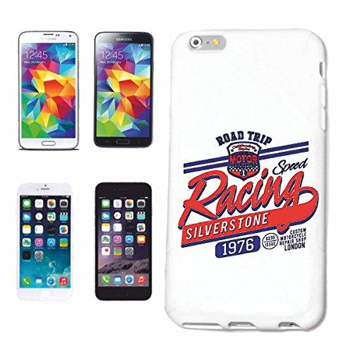 "cas de téléphone iPhone 7S ""SPEED RACING SILVERSTONE RACE RACING FORMULA MOTOR SPEEDWAY ÉQUIPE SPEED CLASSIC AMERICAN"" Hard Case Cover Téléphone Covers Smart Cover pour Apple iPhone en blanc"