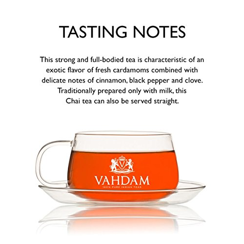 India's Original Masala Chai Tea Bags, 30 TEA BAGS, 100% NATURAL SPICES & NO ADDED FLAVOURING - Blended & Packed in India - Black Tea, Cardamom, Cinnamon, Black Pepper & Clove by VAHDAM (Image #3)