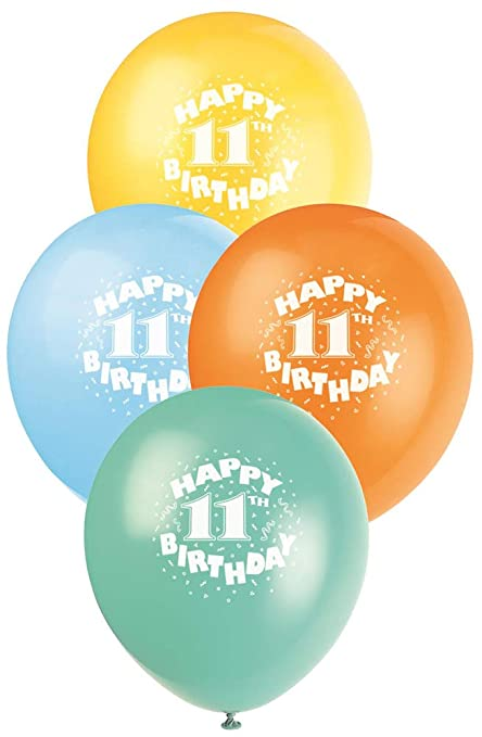 Image Unavailable Not Available For Color 12quot Latex Happy 11th Birthday Balloons