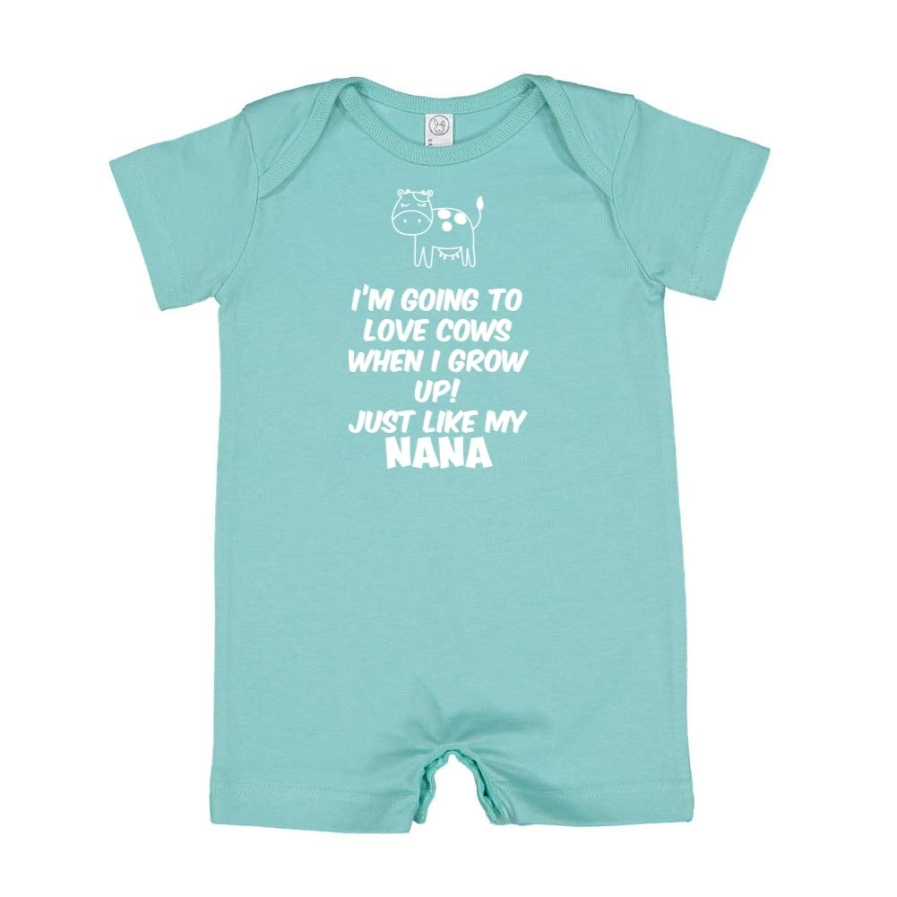 Baby Romper Im Going to Love Cows When I Grow Up Just Like My Nana