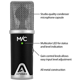 apogee mic usb microphone for ipad iphone and mac musical instruments. Black Bedroom Furniture Sets. Home Design Ideas