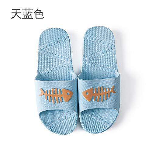 Hommes Amoureux De Femmes Maison Et Bain Bleu Salle Des Qsy Shoe Pantoufles Ciel Femelle D'été La Chaussons xn4fIP0qg