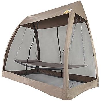 Amazon Com Leisure Season Sbwc402 Swing Bed With Canopy