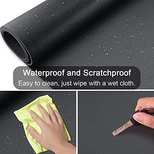 Upcity Desk Mat, Leather Mousepad - Desk Pad for Keyboard and Mouse, Desk Pad Blotter Protector, Waterproof PU Leather Laptop Desk Mat for Office/Home(Black, 2313\