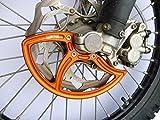 7602 Racing front disc guard. KTM / Husqvarna. 22mm front axle. orange