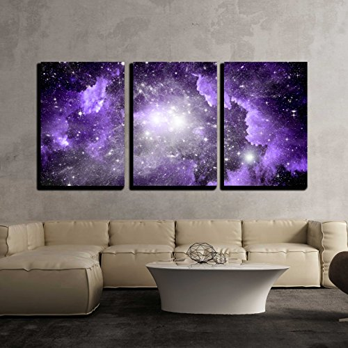 Stars of a Planet and Galaxy in a Free Space x3 Panels