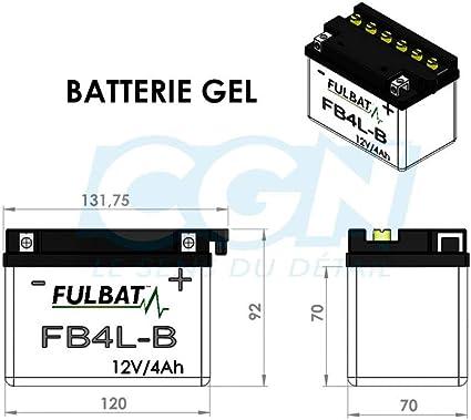 6-ON für Roller Motorradbatterie YB4L-B 5AH