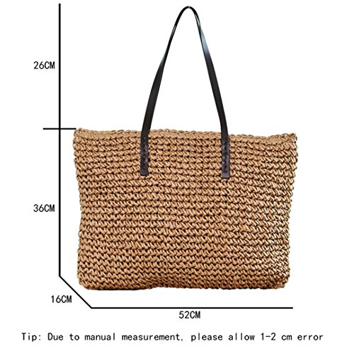 Rattan Bag Shoulder Bags Bags Female Weave Tote Durable SS0294 Straw Handbag Beach Coffee Hobos Bucket Light Knitting Casual Women Feminine pZqwgExvR