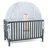 Baby Crib Tent Safety Net Pop Up Canopy Cover - Never Recalled