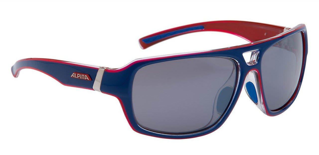 Alpina Sport Style Yuko Lunettes de soleil, Mixte, Sonnenbrille Sport Style YUKO, black-Transparent