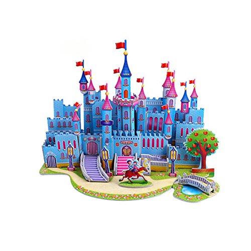 Solar System Cardboard Jigsaw (OKOKMALL US--3D Educational Blue Castle Jigsaw Puzzle Model Toy Christmas Gift For Kids US)