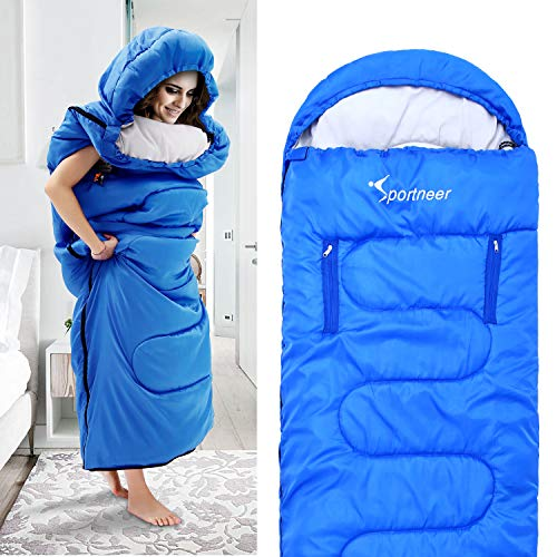 Sportneer Wearable Sleeping Bag, Portable 4 Season Walking Sleeping Bags with Zippered Holes for Arms and Feet, Single Sleeping Bag Onesie for Kids and Adult, Camping, Hiking, Traveling, 20 Degree