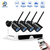 Wireless Security Camera, JOOAN 2.0mp Surveillance Camera System 4 Channel 1080p Video Recorder