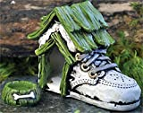 """Fiddlehead Fairy Village – """"Baby Shoe Dog House and Dog Bowl"""" with Bonus Novelty Fairies Bill and 3″ Round Decal Review"""