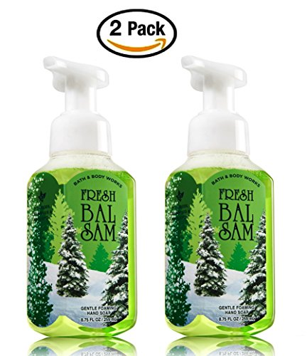 Gentle Scent - Bath & Body Works Fresh Balsam Hand Soap - Pack of 2 Fresh Balsam Pine Tree Scent Gentle Foaming Hand Soaps - Christmas Winter 2015